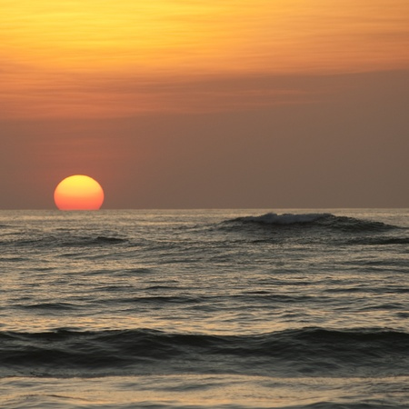 Sunset sky over Costa Rica Stock Photo