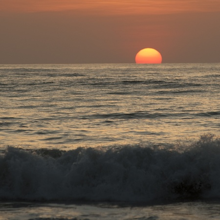 ocean waves: Sunset sky over Costa Rica Stock Photo