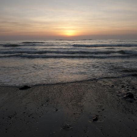 Sunset sky over Costa Rica photo