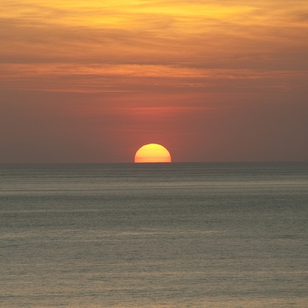 Sunset over Costa Rica coastal waters