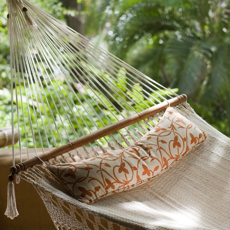 Hammock at Florblanca Resort in Costa Rica Stock Photo