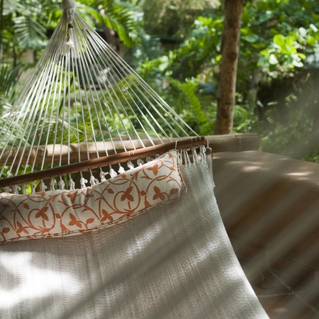 laze: Hammock at Florblanca Resort in Costa Rica Stock Photo