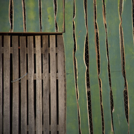restricting: Wooden fence in Costa Rica