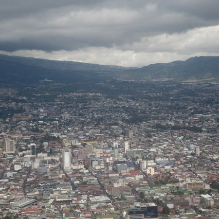 aerial view city: Aerial view of Costa Rica landscape