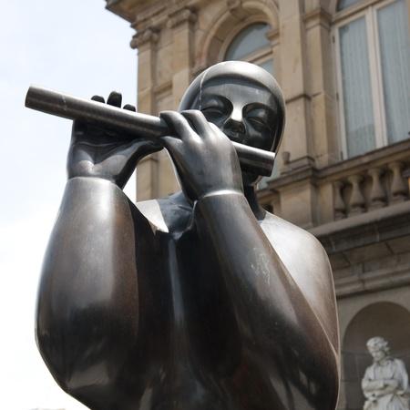 san jose: Flutist sculpture in San Jose