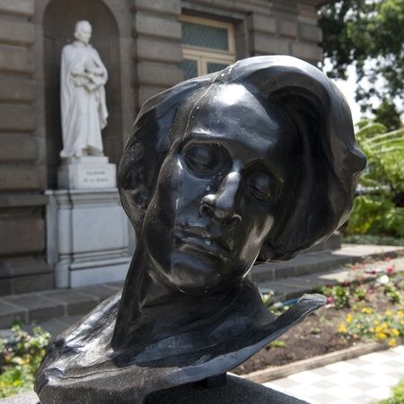 fryderyk chopin: Sculpture of Fryderyk Chopin in San Jose Stock Photo