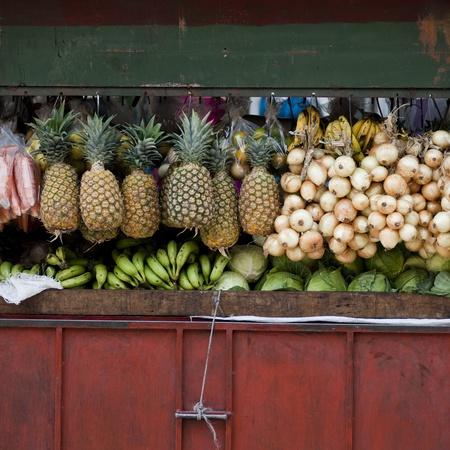 Produce in an open market in San Jose Costa Rica 写真素材