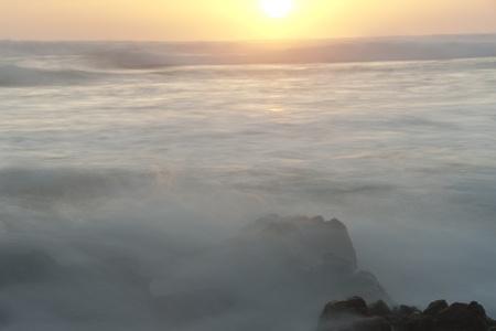 dawns: Sunset seascape in San Jose Costa Rica Stock Photo