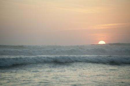 evenings: Sunset seascape in San Jose Costa Rica Stock Photo