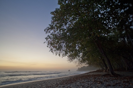 shores: Seascape with afterglow in San Jose Costa Rica