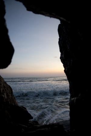 evenings: Seascape along Mal Pais coastline in San Jose Costa Rica