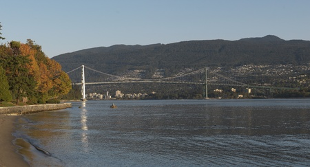 Lions Gate Bridge in Vancouver, British Columbia, Canada Stock Photo - 9260189