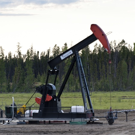 alberta: Pump jack at an oil rig, Northern Alberta, Alberta, Canada