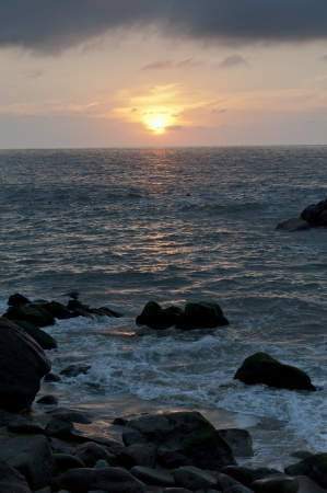 Sunset over the sea, Sayulita, Nayarit, Mexico photo