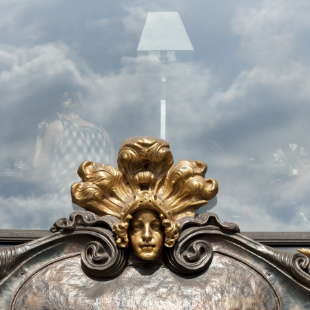 incidental people: Details of a carving on the wall of a building, Nevsky Prospect, St. Petersburg, Russia
