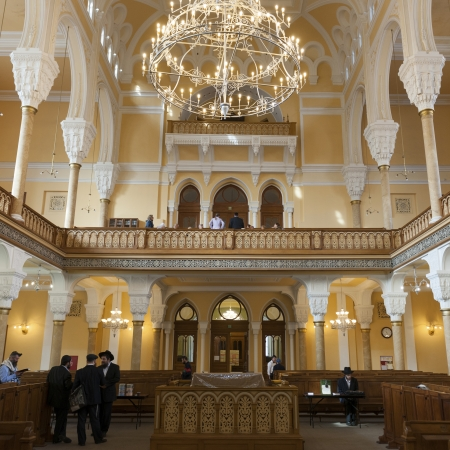 choral: Interiors of the Grand Choral Synagogue, St. Petersburg, Russia