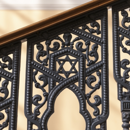 traditionally russian: Railing of a synagogue, Grand Choral Synagogue, St. Petersburg, Russia