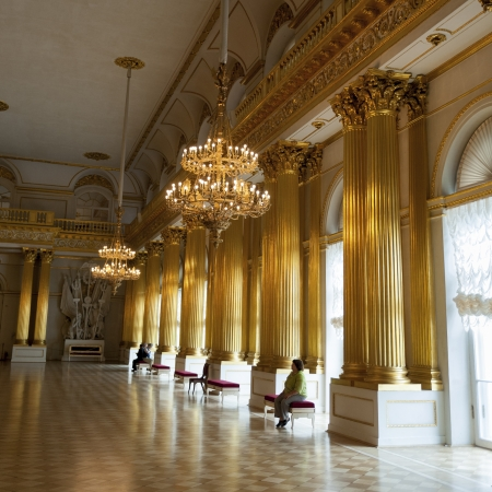 Hall of a museum, Armorial Hall, Winter Palace, State Hermitage Museum, Palace Square, St. Petersburg, Russia