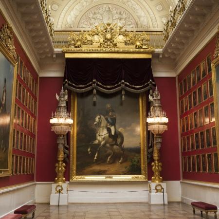 palacio ruso: Las pinturas de famosos l�deres rusos en un museo, palacio de invierno, Museo Estatal del Hermitage, Plaza del Palacio, San Petersburgo, Rusia