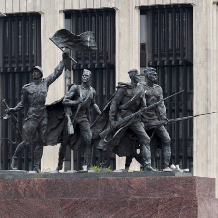 Monument to the Heroic Defenders of Leningrad, Victory Square, Moskovsky Prospekt, St. Petersburg, Russia Stock Photo - 14201035