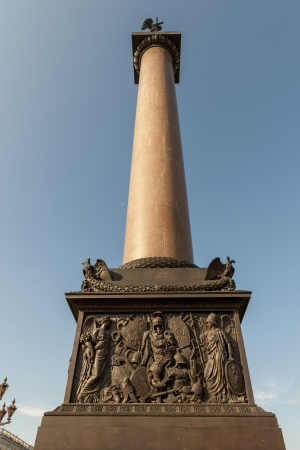 traditionally russian: Alexander Column, Winter Palace, State Hermitage Museum, Palace Square, St. Petersburg, Russia