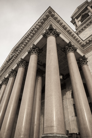 traditionally russian: Colonnade of the Saint Isaacs Cathedral, St. Isaacs Square, St. Petersburg, Russia