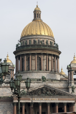 traditionally russian: Low angle view of the Saint Isaacs Cathedral, St. Petersburg, Russia