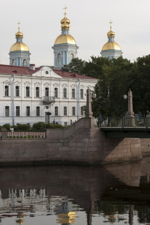 traditionally russian: Naval Cathedral of St. Nicholas, Kryukov Canal, St. Petersburg, Russia