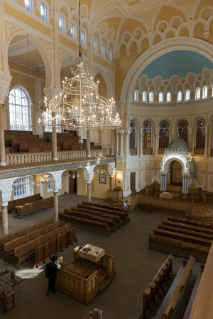 Interiors of the Grand Choral Synagogue, St. Petersburg, Russia