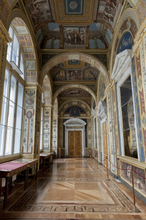 traditionally russian: The Raphael Loggias, Winter Palace, State Hermitage Museum, Palace Square, St. Petersburg, Russia