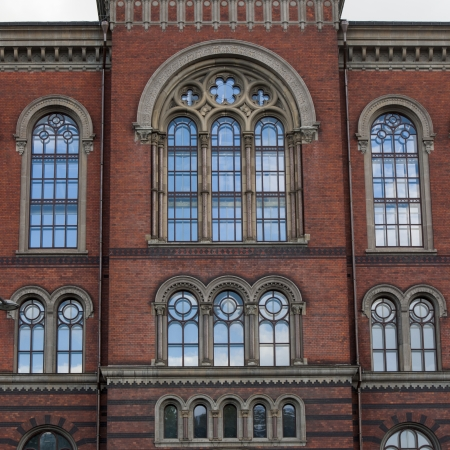 Low angle view of a building, Stockholm, Sweden