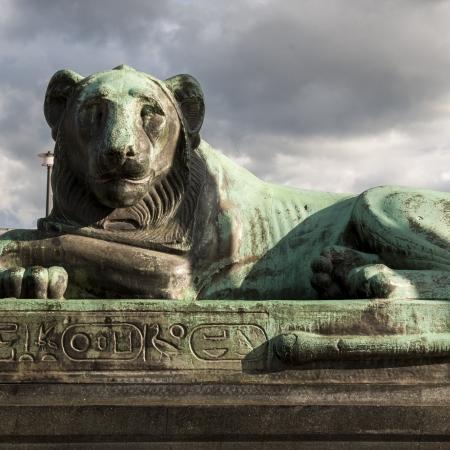likeness: Close-up of a lion statue, Stockholm, Sweden
