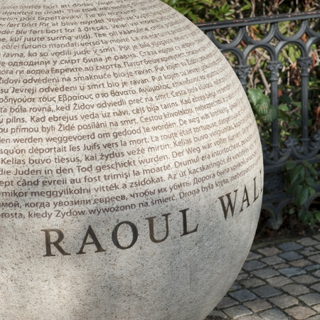 Close-up of a memorial, Memorial to Raoul Wallenberg, Stockholm, Sweden