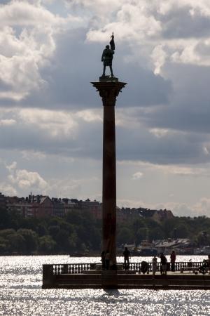incidental people: People at a monument, Stockholm, Sweden