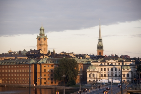 Buildings at the waterfront, Stockholm, Sweden photo