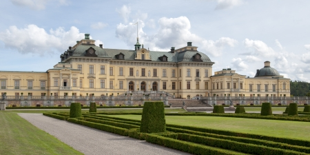 the royal county: Facade of the Drottningholm Palace, Drottningholm, Stockholm County, Sweden Editorial