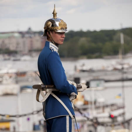 Royal guard in the Stockholm Palace, Gamla Stan, Stockholm, Sweden