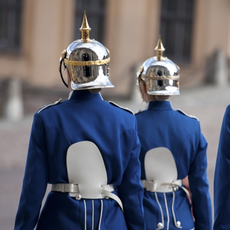 Royal guards in the Stockholm Palace, Gamla Stan, Stockholm, Sweden