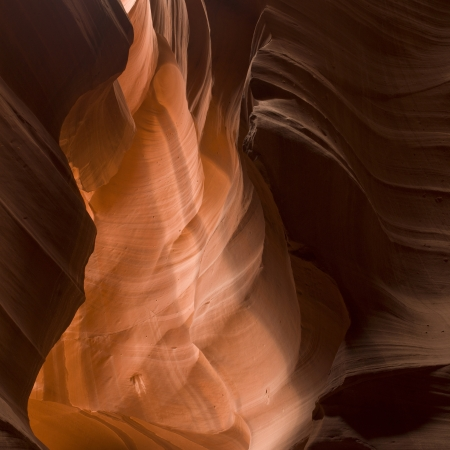 Slot canyon, Tse Bighanilini, Upper Antelope Canyon, Antelope Canyon, Page, Arizona, USA Stock Photo - 14248912