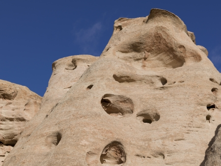 paria: Low angle view of rock formations, Paria Canyon, Paria, Kane County, Utah, USA Stock Photo