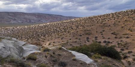 hoodoo: Clouds over a desert, Amangiri, Canyon Point, Hoodoo Trail, Utah, USA