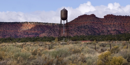 the water tower: Water tower in a desert, Utah, USA