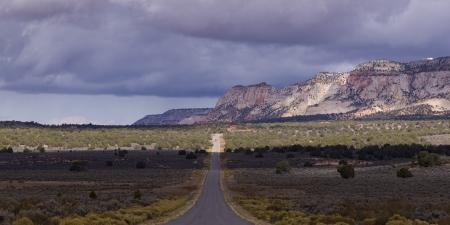 Road passing through a landscape, Zion National Park, Utah, USA photo