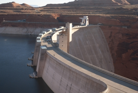 Dam on Lake Powell, Glen Canyon Dam, Arizona-Utah, USA