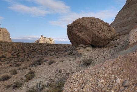 hoodoo: Rock formations in a desert, Amangiri, Canyon Point, Hoodoo Trail, Utah, USA