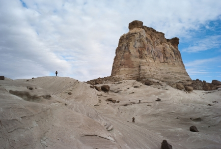 hoodoo: Rock formations on a landscape, Amangiri, Canyon Point, Hoodoo Trail, Utah, USA