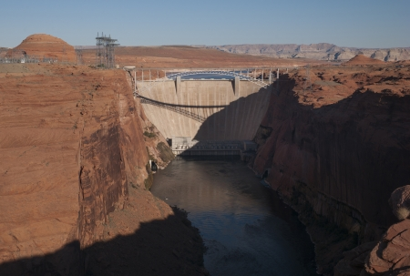 Dam on Lake Powell, Glen Canyon Dam, Arizona-Utah, USA photo