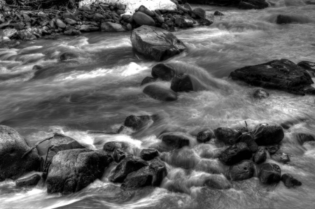 Rocks in the river, Whistler, British Columbia, Canada photo