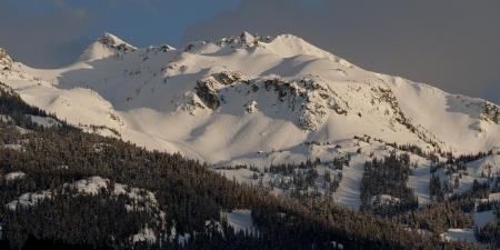 whistler: Snow covered mountains, Whistler, British Columbia, Canada Stock Photo