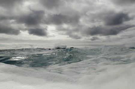 Waves in the Pacific Ocean, Playa Ochoa, San Cristobal Island, Galapagos Islands, Ecuador